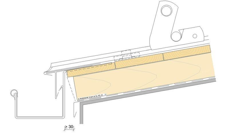 kastenrinne von rheinzink aus titanzink. Black Bedroom Furniture Sets. Home Design Ideas