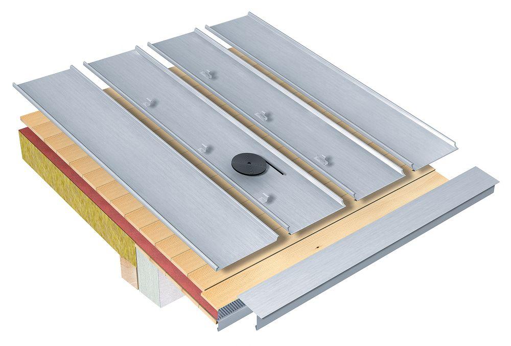 Gut bekannt Doppelstehfalz für die Dacheindeckung   rheinzink.de VM15